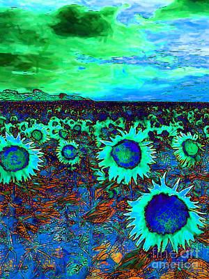 Sunflower Field 20130730p150 Vertical Poster