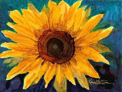 Poster featuring the painting Sunflower II by Karen Mattson