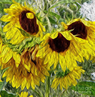 Sunflower Morn  Poster by Ecinja Art Works