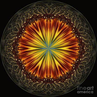 Sunflower Orb Poster