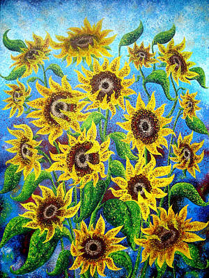 Sunflower Reflections Poster