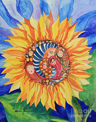 Sunflower Seeds Of Hope Poster by Shirin Shahram Badie