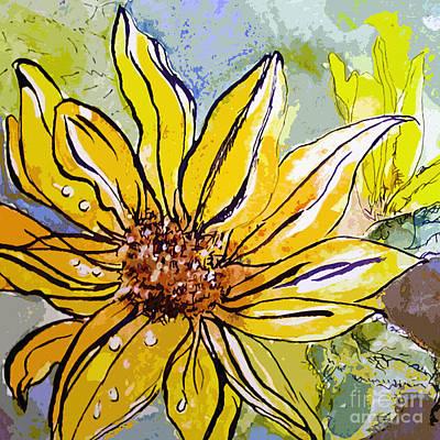 Sunflower Yellow Ribbon Poster