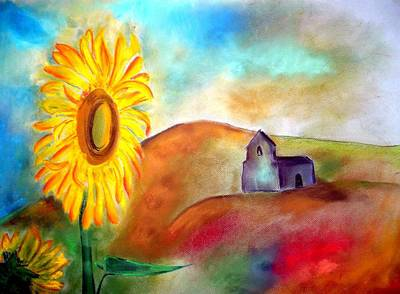 Sunflowers By The Hermitage Poster