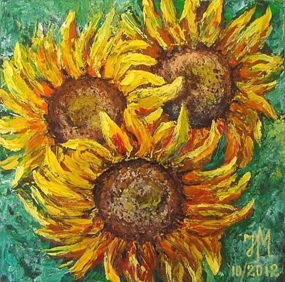 Sunflowers Poster by Nina Mitkova