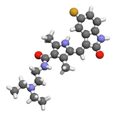 Sunitinib Cancer Drug Molecule Poster
