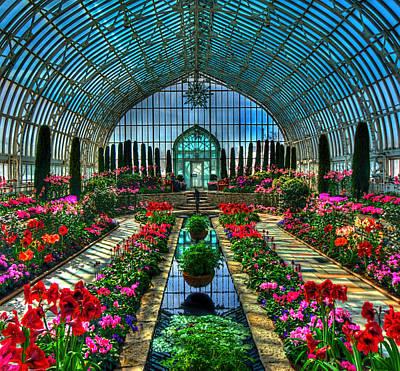 Sunken Garden Marjorie Mc Neely Conservatory Poster by Amanda Stadther