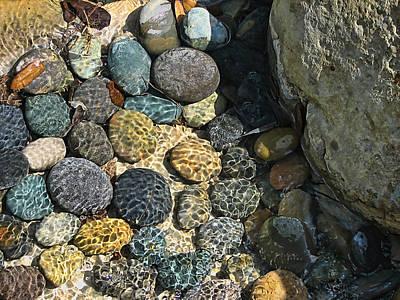 Sunlight On Wet Rocks Poster