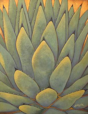 Sunlit Agave Poster