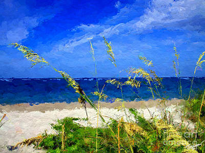 Sunlit Beachgrass Poster