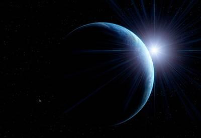 Sunlit Earth From Space Poster by Detlev Van Ravenswaay