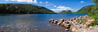 Poster featuring the photograph Sunny Day On Jordan Pond   by Lars Lentz