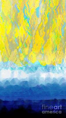 Poster featuring the digital art Sunny Day Waters by Darla Wood