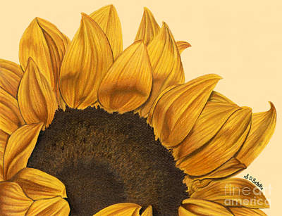 Sunny Flower Poster by Sarah Batalka