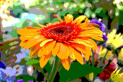 Poster featuring the photograph Sunny Gerbera by Jocelyn Friis