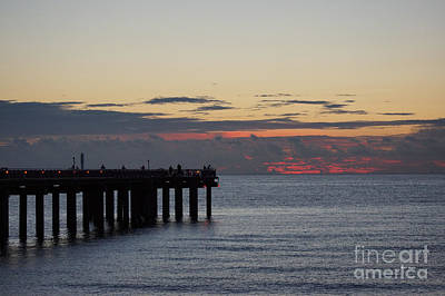Poster featuring the photograph Sunny Isles Fishing Pier Sunrise by Rafael Salazar