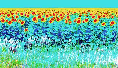 Sunny Kansas Poster by Ann Johndro-Collins