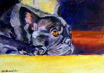 Sunny Patch French Bulldog Poster by Lyn Cook