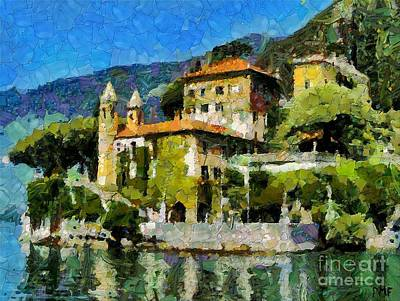 Sunny Villa On Lake Como Poster by Dragica  Micki Fortuna