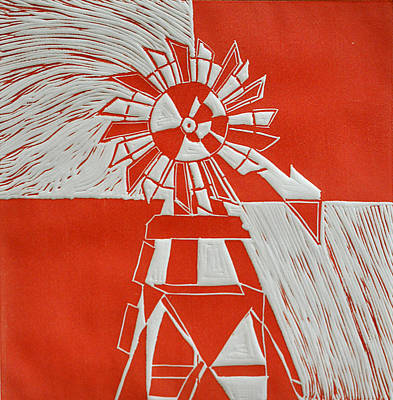 Sunny Windmill Poster