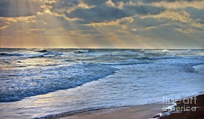 Sunrays On An Angry Sea Poster
