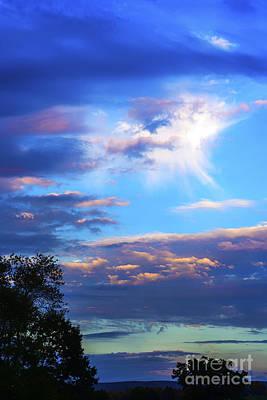 Sunrise Angel Cloud Poster by Thomas R Fletcher