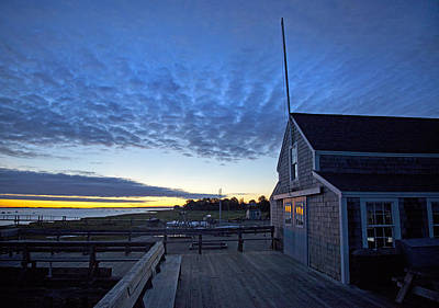 Sunrise At Barnstable Yacht Club Poster