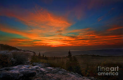 Poster featuring the photograph Sunrise At Bear Rocks In Dolly Sods by Dan Friend