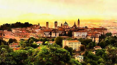 Sunrise At Bergamo Poster