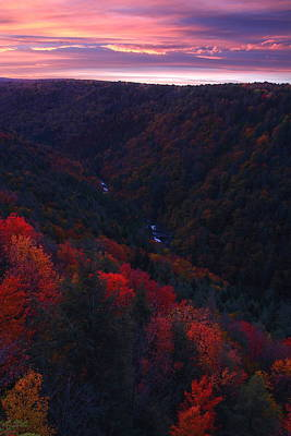 Sunrise At Blackwater Falls State Park Poster by Jetson Nguyen
