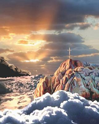 Sunrise At Calvary Poster by Ron Chambers