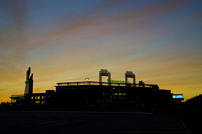 Sunrise At Citizens Bank Park Poster by Bill Cannon