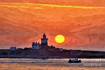Sunrise At Coquet Island Northumberland - Photo Art Poster
