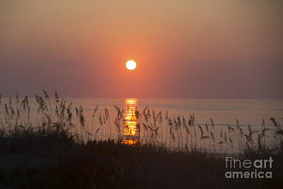 Sunrise At Corolla Outer Banks North Carolina Poster by Diane Diederich