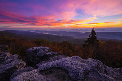 Sunrise At Dolly Sods In West Virginia Poster by Jetson Nguyen