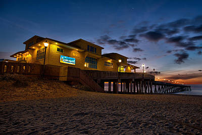 Sunrise At Johnnie Mercer's Pier Poster