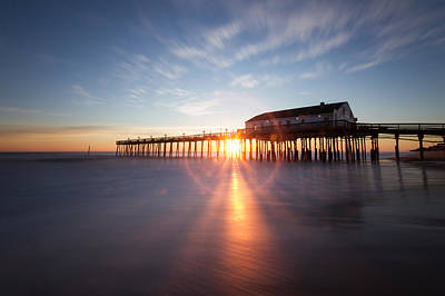 Sunrise At Kitty Hawk Pier Poster