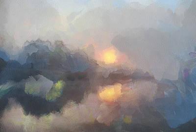 Sunrise At Lake Poster
