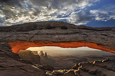 Poster featuring the photograph Sunrise At Mesa Arch by Roman Kurywczak
