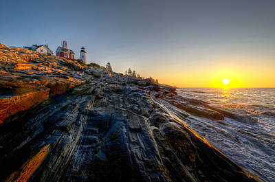 Sunrise At Pemaquid Point Poster