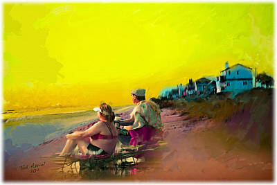 Sunrise At Ponte Vedras Poster