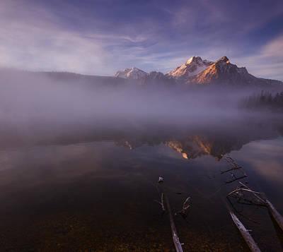Sunrise At Stanley Lake Idaho Poster by Vishwanath Bhat