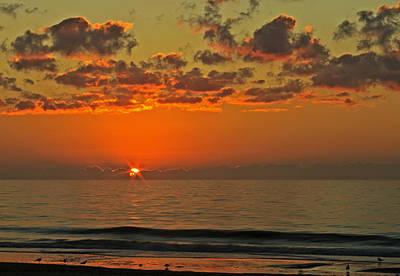 Sunrise At The Beach V Poster
