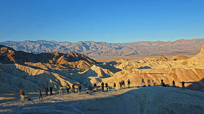 Poster featuring the photograph Sunrise At Zabriskie Point - Death Valley by Dana Sohr