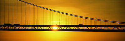 Sunrise Bay Bridge San Francisco Ca Usa Poster by Panoramic Images