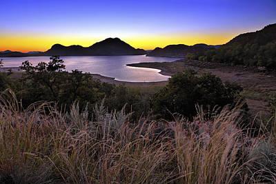Sunrise Behind The Quartz Mountains - Oklahoma - Lake Altus Poster