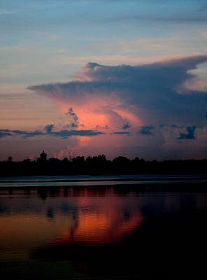 Sunrise Cloud Reflection Poster by Diane Merkle