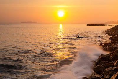 Sunrise Colors - San Francisco Bay Poster by David Yu