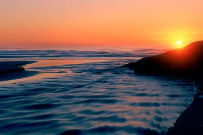 Sunrise Good Harbor Poster by Michael Hubley