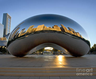 Sunrise In Cloudgate Poster by Martin Konopacki
